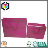 Bolsa de papel de lujo de las compras de la insignia de la hoja de plata para la ropa
