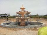 3 pneus marmoreiam a fonte de água de pedra da escultura com associação
