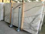 Calacattaのイタリアの白い大理石、大理石のタイル、床の壁のカウンタートップのための大理石の平板