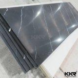 Superficie solida acrilica di marmo venata per la contro parte superiore