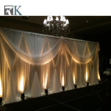 Eindeutiges Berufsrohr und drapieren Hintergrund-Installationssätze für Hochzeits-Ereignis