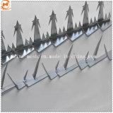Оцинкованного металла Anti-Climb безопасности/Стены номинал борона с остроконечными зубьями