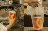 12oz de bebidas frías vaso de papel con tapa (12 oz)