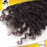 3.5X4 humain Braziian Curly dentelle Fermeture supérieur