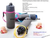 Cordão de isolamento de suporte para garrafa de água de neopreno com alça ajustável