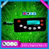 Fabricante gráfico da impressão da tela do teclado da folha de prova do diodo emissor de luz do adesivo feito sob encomenda do interruptor de membrana 3m do indicador