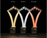 2018 Nouveau Five-Pointed Star trophée en résine de métal Or Argent Cuivre trophée de cristal libre de l'impression