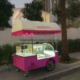 イタリアのアイスクリームの表示カートのセリウムの承認