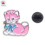 도매 OEM \ ODM 금속 귀여운 동물성 고양이 접어젖힌 옷깃 Pin 기술