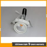 lumière rotative de cardan de l'ÉPI DEL du CREE 12W/plafonnier/Downlight