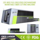 Una cortadora más alta de hoja de metal de la fibra de la potencia del laser con 1000W