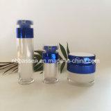 مستحضر تجميل زرقاء يعبّئ مرطبان أكريليكيّ [كرم] خاصّة غسول زجاجة ([بّك-نو-157])