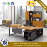 Bureau en bois de panneau de modestie de patte moderne en métal (UL-MFC472)