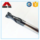 Moinho de extremidade longo do raio do canto do carboneto das flautas da alta qualidade para a perfuração do metal