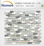 熱い販売のステンレス鋼のクリスタルグラスの組合せの自然な石造りのモザイク