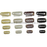 Alligator de métal chanter Prong Hair Clip avec dents