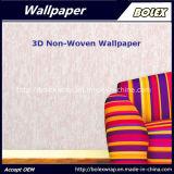 papel pintado natural no tejido del color de rosa del papel pintado 3D para la decoración casera los 0.53*10m