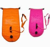 Alta calidad y boya flotante del lago de la venta swimming segura brillante caliente del color con la insignia de encargo para la natación del lago y la natación del agua abierta
