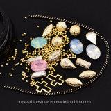 Gemengde Kerstmis Gouden Chains&#160 van Strass van de Parels van Juwelen Mini; De Kunst van de Spijker van het Bergkristal van kristallen (tpr-52)