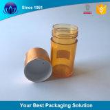 60ml 150mlのアルミニウム帽子が付いているプラスチック明確な瓶のヘルスケアの薬の丸薬ビタミンのカプセルのびん