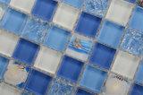 Helle blaue Farbe kundenspezifische Capiz Großhandelsglasshell-Mosaik-Fliese
