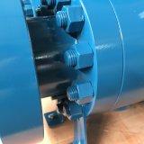 API 6D divisão aço forjado Ilharga Devlon Peek programável de entrada de segurança contra incêndio do Assento da Válvula de Esfera de montagem do munhão