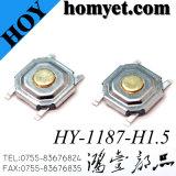Interruptor de cobre del tacto del botón del enchufe de fábrica 4pin SMT para los productos de Digitaces
