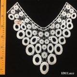 il testo fisso nuziale elegante del merletto di 35*35cm con i fori della striscia ha connesso il merletto Hml8673 della guarnizione del collare del poliestere degli accessori dell'indumento