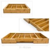 Bambú de la marca de fábrica de Anconalife en bandeja del rectángulo de almacenaje del cajón