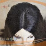 La naturaleza del 100% negra peluca pelo humano (PPG-L-00003)