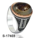 Nuovo anello dei monili dell'argento di disegno per il commercio all'ingrosso della fabbrica degli uomini