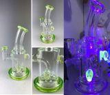 Bontek 6.5 Zoll-Grün-Schädel-rauchendes Wasser-Rohr-Öl-Rohr