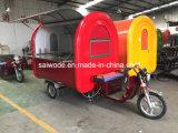 Carro móvel conduzido elétrico do alimento