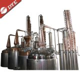 600 galloni dell'alcool del rame di strumentazione del distillatore con le colonne di riflusso e la colonna di piatti di rame della coppella
