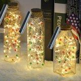 A cortiça dos frascos de vinho ilumina bulbos do diodo emissor de luz do fio de cobre 20 das luzes da corda do fio de cobre para o frasco DIY, o Natal, o casamento e o partido
