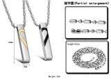 Hart Necklaces&Pendants van het Kristal van de Juwelen van de Manier van het Roestvrij staal van de Halsband van het Paar van één Paar het Fijne voor Collier van Colar van de Gift van de Minnaar van de Vrouwen van Mannen