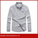 Camicia poco costosa degli uomini del cotone del commercio all'ingrosso della fabbrica di Guangzhou (S75)