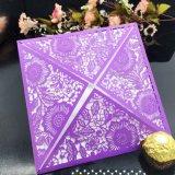 Роскошь Выдолбила-вне печатание поздравительной открытки карточки подарка изготовленный на заказ
