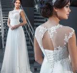Sleeveless Brautkleid-Reich-Mutterschaftsspitze-Hochzeits-Abend-Kleider Z1038