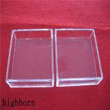 De transparante Verwarmer van de Petrischaal van het Glas van het Kiezelzuur van de Grootte van de Douane
