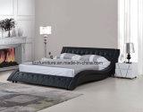 유럽식 현대 침실 실제적인 가죽 침대