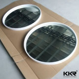 Specchio di pietra di superficie solido del blocco per grafici di Kkr in stanza da bagno