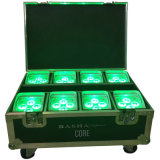 4*15W 5in1 Battery Operated LED PAR64 Smart Flight Case