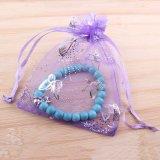 多彩な蝶整形ギフトの包装のオーガンザの袋のドローストリング袋の宝石類袋(COB-1117)