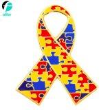 De Spelden van de Revers van het Email van het Raadsel van het Autisme van het Lint van Goldtone