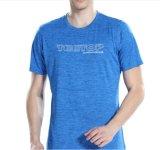 2018 werken de Hete Sporten van Spandex van de Polyester van de Verkoop Nieuwe Droge Geschikte T-shirts met de Druk van de Douane uit