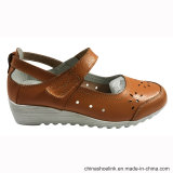 Populaire Dame Casual Leather Shoes met Zool TPR