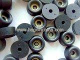 Custom Viton FKM una arandela de acero con patas de goma en el interior