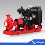 A extremidade de acionamento do motor diesel que circulam de sucção da bomba de água de combate a incêndios