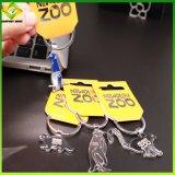 工場価格のカスタマイズされたロゴのカスタム金属のびん犬のキーホルダー